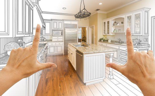 Thiết kế đá hoa cương không gian bếp