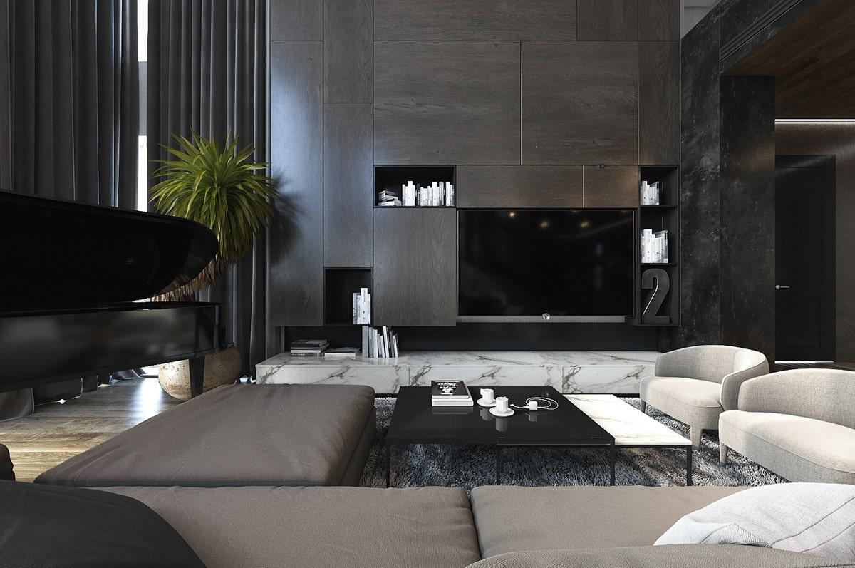 Ý tưởng thiết kế đá Marble đen