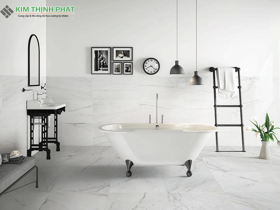 Nhà tắm sử dụng đá Marble trắng