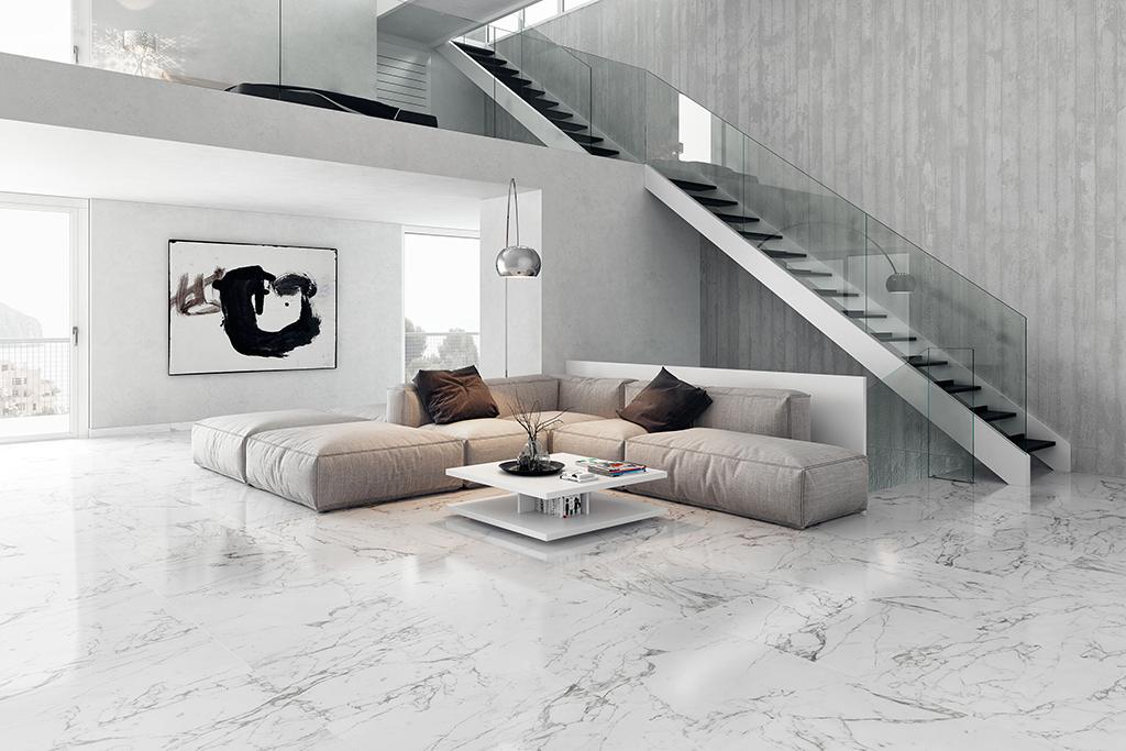 Lát nền đá Marble trắng