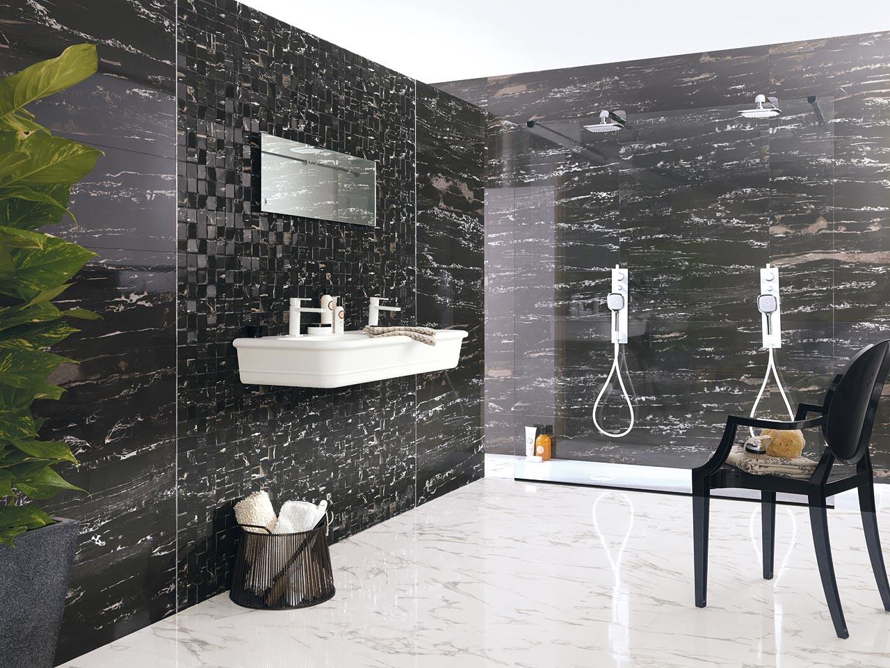 Tường nhà đá Marble đen