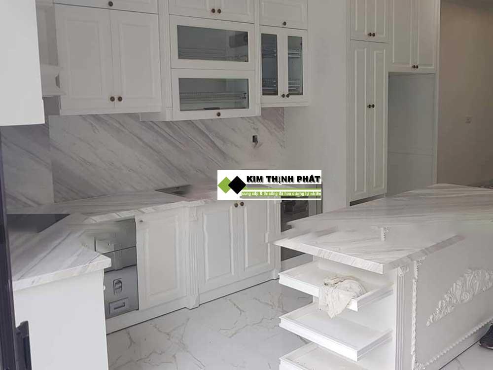 MẪU ĐÁ TRẮNG VÂN MÂY TỰ NHIÊN: trắng Polaris, trắng Volakas, trắng Carrara.