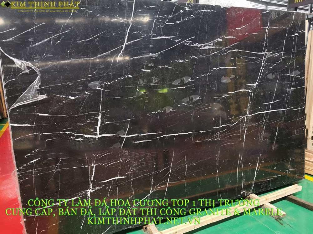 mẫu tấm đá marble đen tia chớp