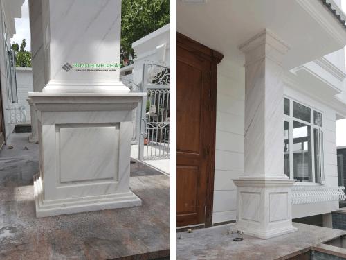 tấm đá marble trắng polaris