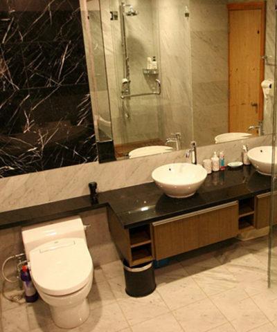 Bàn đá lavabo granite đen