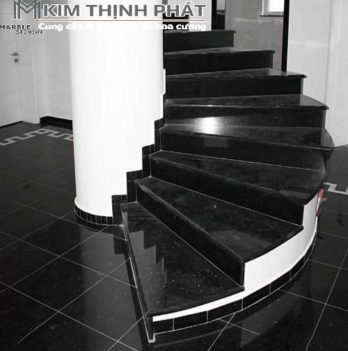 công trình cầu thang đá kim sa đen