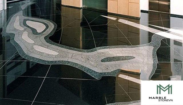 Sàn nhà đá Kim Sa Xanh