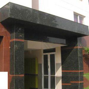 Mặt tiền đá Granite đen campuchia