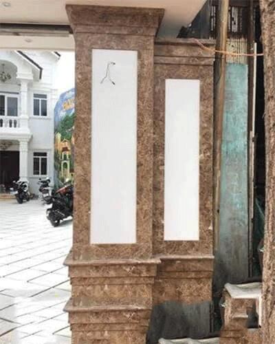 cột vuông ốp sảnh nhà