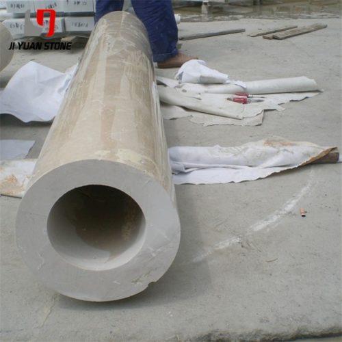 Cột tròn đá Marble cream marfil