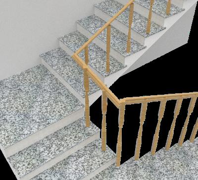 Cầu thang đá Trắng Suối Lau