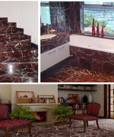 Đá Cầu Thang Marble Rosso Levanto New