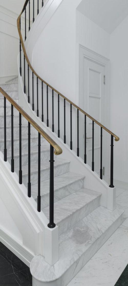 cầu thang đá marble trắng hy lạp