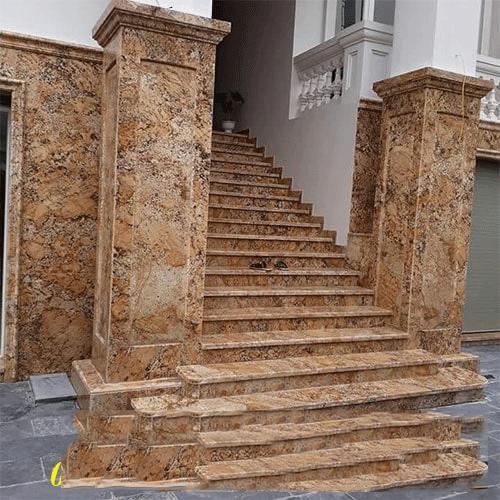 đá ốp cột cổng vuông