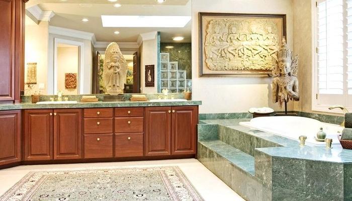 Phòng tắm đá Marfrble xanh